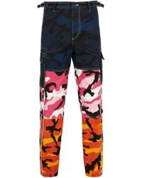 Valentino - Camouflage-print Panelled Trousers - Lyst