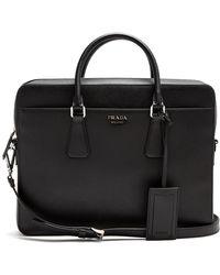 Prada | Zip-around Saffiano-leather Briefcase | Lyst