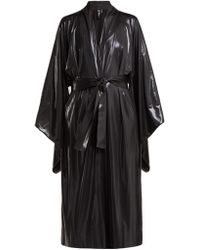 Norma Kamali - Belted Lamé Robe - Lyst