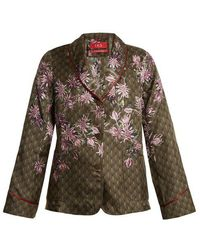 F.R.S For Restless Sleepers - Persefone Floral-print Satin Pyjama Shirt - Lyst