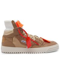 Off-White c/o Virgil Abloh - Low 3.0 Leather And Canvas Trainers - Lyst