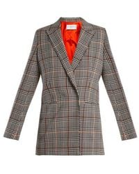 Amanda Wakeley - Prince Of Wales-check Stretch-wool Jacket - Lyst