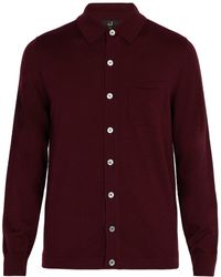 Dunhill - Patch-pocket Wool Cardigan - Lyst