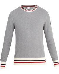 Moncler Gamme Bleu - Crew-neck Waffle-knit Cotton Sweater - Lyst