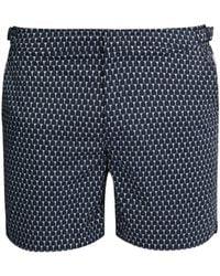 Orlebar Brown Bulldog Sport Cerchio Print Swim Shorts