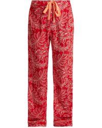 Diane von Furstenberg | Floral-print Silk Crepe De Chine Pyjama Trousers | Lyst