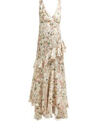 Johanna Ortiz - Divine Intervention Floral Print Silk Gown - Lyst