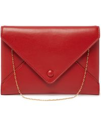The Row - Envelope Chain Handle Leather Clutch - Lyst