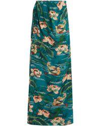 Stella Jean | Piccola Silk Crepe De Chine Maxi Skirt | Lyst