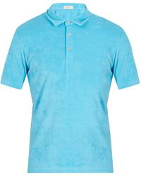 Altea   Terry-towelling Cotton-blend Polo Shirt   Lyst