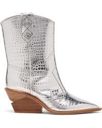 Fendi - Cutwalk Crocodile Effect Leather Cowboy Boots - Lyst