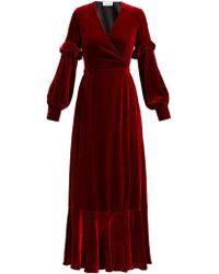 Raquel Diniz - Aurora Silk Velvet Wrap Dress - Lyst