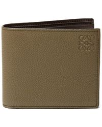 Loewe - Grained-leather Bifold Wallet - Lyst