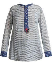 Figue - Milagro Paisley Print Silk Chiffon Shirt - Lyst