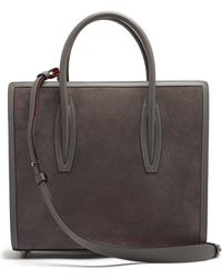 Christian Louboutin - Paloma Medium Leather And Suede Tote - Lyst