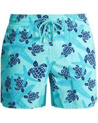 Vilebrequin - Moorea Starlettes And Turtles-print Swim Shorts - Lyst