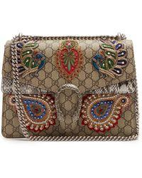 Gucci - Dionysus Gg Supreme Embellished Large Shoulder Bag - Lyst