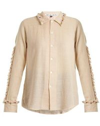 Jupe by Jackie - Diwali Embroidered-frill Wool Shirt - Lyst