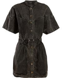 8b44236e1d5 Isabel Marant - Trudy Washed Denim Mini Dress - Lyst