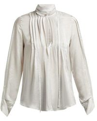 Ann Demeulemeester - High-neck Pleated-front Blouse - Lyst