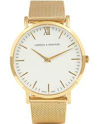 Larsson & Jennings - Lugano Gold Plated Watch - Lyst