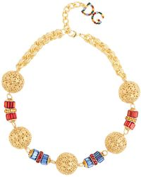 Dolce & Gabbana - Charm-embellished Necklace - Lyst