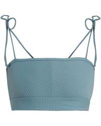 Made By Dawn - Arrow Ribbed Bandeau Bikini Top - Lyst