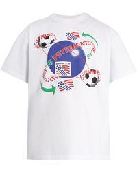 Vetements - Football Print Cotton T Shirt - Lyst
