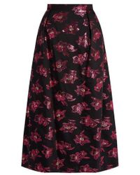 The Vampire's Wife - Bell Floral Fil-coupé Midi Skirt - Lyst