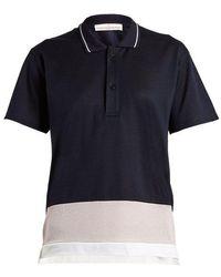 Golden Goose Deluxe Brand - Dalila Contrast-panel Piqué Polo Shirt - Lyst
