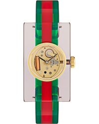Gucci - Timeless Stainless Steel Snake Face Watch - Lyst