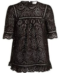 Zimmermann - Tali Swirl Broderie-anglaise Cotton Top - Lyst