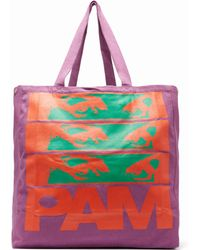Pam - Maiden Print Cotton Canvas Tote Bag - Lyst
