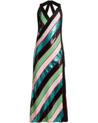 Diane von Furstenberg - Striped Sequin-embellished Dress - Lyst