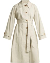 Proenza Schouler - Single Breasted Cotton Trench Coat - Lyst