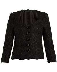 Dolce & Gabbana - Cordonetto-lace Scallop-edged Jacket - Lyst