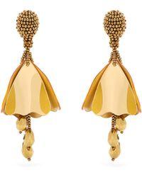 Oscar de la Renta - Mini Impatiens Clip-on Earrings - Lyst