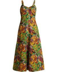 Duro Olowu - Robe en cloqué texturé col en V et imprimé floral - Lyst