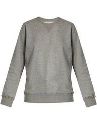 Valentino - Rockstud Untitled #8 Cotton-blend Sweatshirt - Lyst