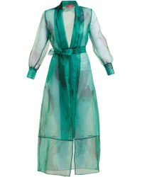 F.R.S For Restless Sleepers - Tharos Palm Tree Print Organza Robe - Lyst