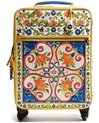 Dolce & Gabbana - Majolica-print Leather Suitcase - Lyst
