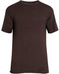 Simon Miller - Kohide Crew-neck Cotton-knit T-shirt - Lyst