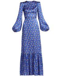 The Vampire's Wife - Belle No.1 Firework-print Silk-satin Dress - Lyst