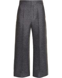 Lanvin | Wide-leg Flannel Cropped Trousers | Lyst
