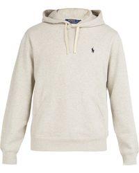 Polo Ralph Lauren - Fleece Back Cotton Jersey Hooded Sweatshirt - Lyst