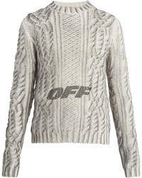 Off-White c/o Virgil Abloh - Spray Graphic Sweater - Lyst