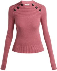 Étoile Isabel Marant - Koyle Ribbed Cotton-blend Jumper - Lyst
