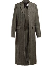 Stella McCartney - Herringbone Wool Blend Coat - Lyst