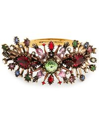 Alexander McQueen - Rose Embellished Cuff - Lyst