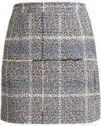 Alessandra Rich - Cotton-blend Tweed Mini-skirt - Lyst